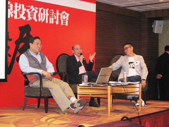 是次研討會由中原住宅董事總經理陳永傑(中)及中原地產研究部聯席董事黃良昇(左)主講,反應熱烈。