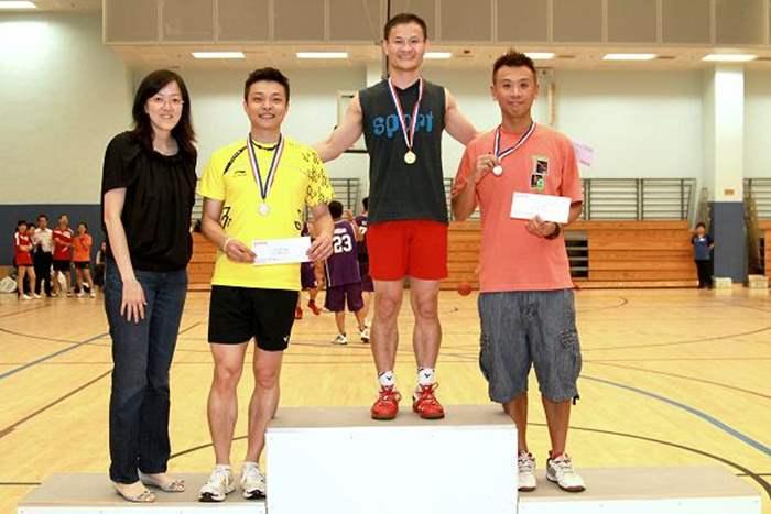 男子羽毛球單打得獎者