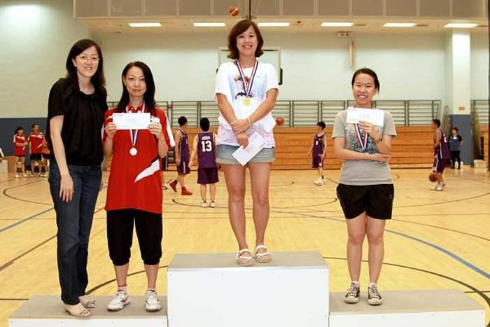 女子羽毛球單打得獎者