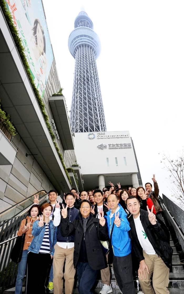 行程的一站:到東京晴空塔