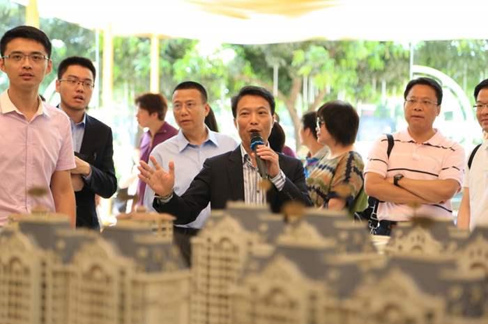 中原(工商舖)代理心海洲部份舖位,董事總經理潘志明先生更為精英們講解項目優勢。