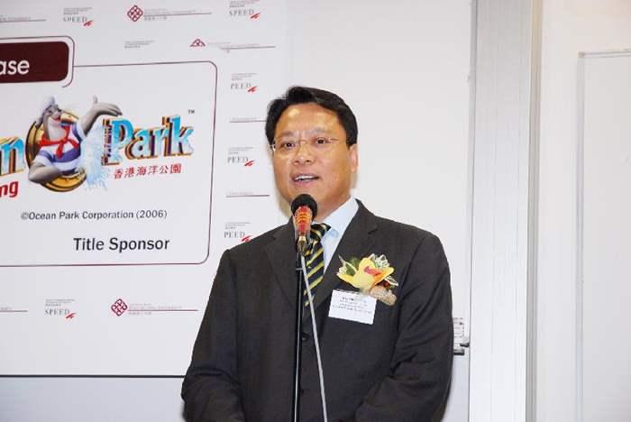 頒獎禮上,黃偉雄先生向在場同學分享了中原地產的成功故事,並鼓勵同學多加利用資訊科技網絡去拓展發展空間。