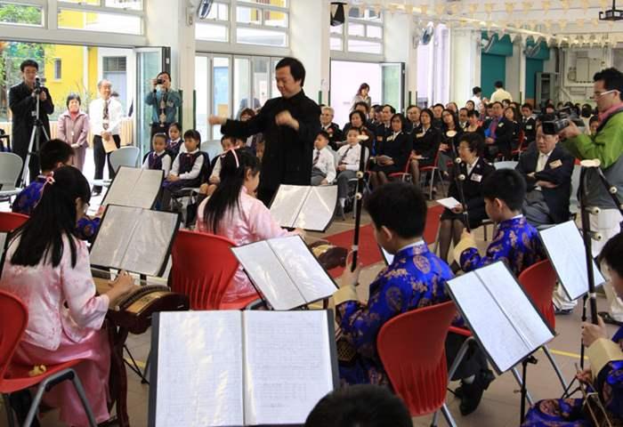 學校的中樂團為開幕禮演奏