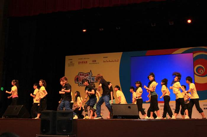「Hip Hop舞」學員的表演充滿動感,導師更謂學員天份高,特別加長了表演舞步。