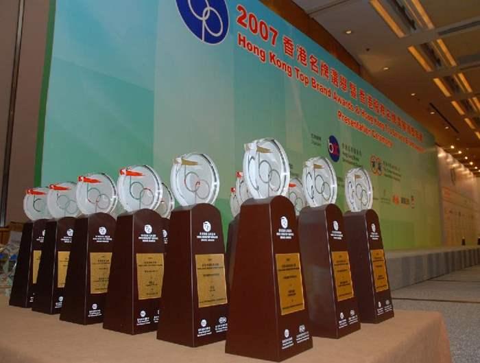 獎項分別香港名牌及香港服務名牌兩個類別