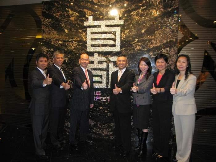 中原5名董事與長實黃思聰先生舉行開售前首都「高峰會議」