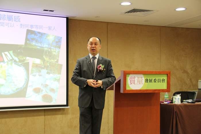 中原西九龍及九龍豪宅區高級營業董事李子明於會上分享管人要訣就是要以身作則。
