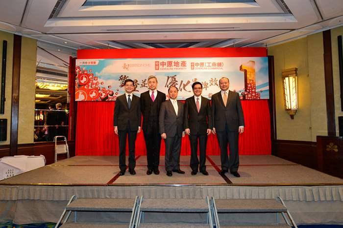 (排名由左至右)中原營業董事方啟明、李巍、李子明、何偉強及周永輝去年帶領團隊創出佳績,表現出色,獲晉升為資深營業董事。